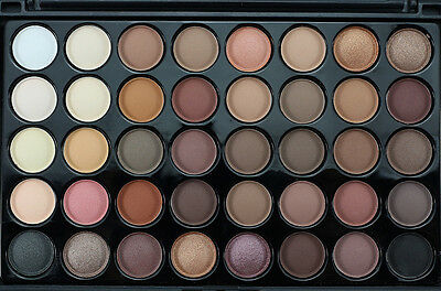 40 Colors Professional Matte Shimmer Eyeshadow Palette Warm Smoky Eye shadow New