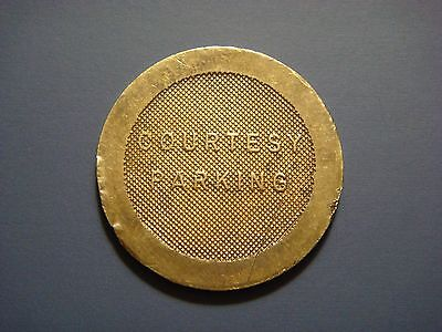 Card Key System Inc. Parking Token Courtesy Parking Bronze 25 Mm