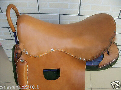 Equestrian Supplies Horsemanship 1-Level Yaks Leather Visitors Handrails Saddle