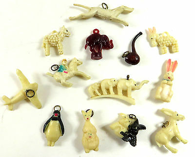 Vintage Cracker Jack Toys Charms Nice Variety 13 Piece Lot