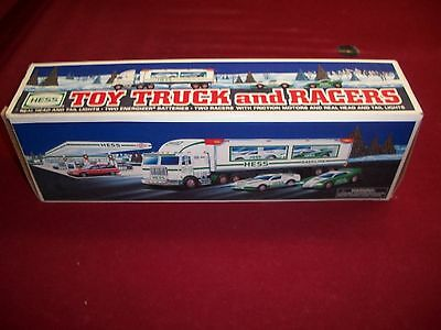 1997 Hess Toy Truck and Racers mint in box.