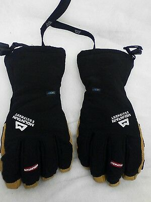 Mountain equipment men's randonee gaunlet gloves small black/tan