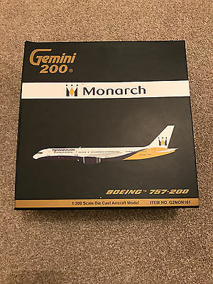 Gemini 200 Gemini Jets 1/200 Scale MONARCH AIRLINES BOEING 757-200 G2MON161