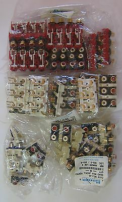 Lot 37 RCA Jack panel assemby dual quad hexa octal parting out audio connectors