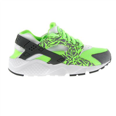 Juniors Nike Huarache Run (GS) Electric Green/White/Grey 704943 300 Size: UK 5