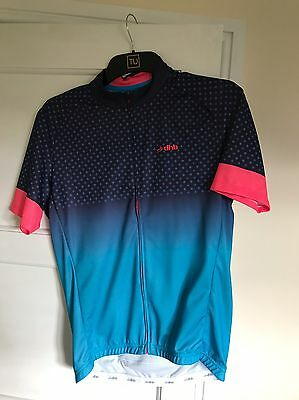 dhb Blok Cycling Jersey Pink and Blue - Large