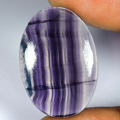 33Cts. Multi Color Natural Stripped Fluorite Oval Cabochon Loose Gemstones