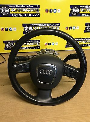 Audi A4 B7 S Line 3 Spoke Black Leather Steering Wheel With A1Rbag 2007