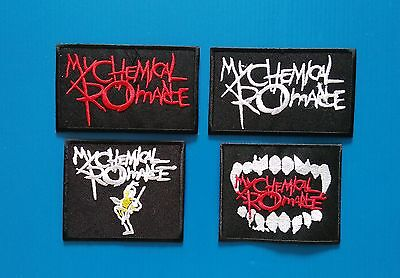 4 LOT  MY CHEMICAL ROMANCE  3 Inch Embrodered Iron Or Sewn On Patches Free Ship