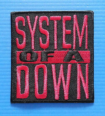 SYSTEM OF A DOWN Iron Embroidered Sewn On Iron On  Patch Free Ship
