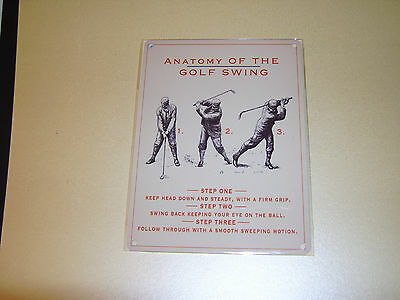Anatomy of the Golf Swing Sign x3