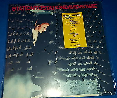 DAVID BOWIE _Los Angeles Forum 1976 (LP) blue vinyl sealed