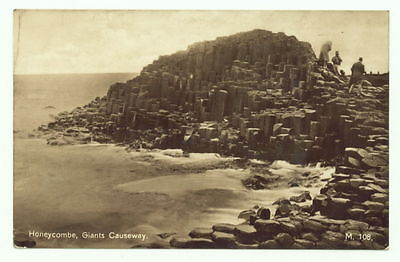 Giants Causeway - The Honeycomb, Real Photo Postcard M108