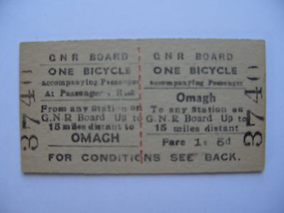 GNRI Great Northern Railway Ireland Ticket OMAGH - ONE BICYCLE (3)