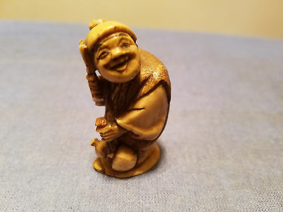 Very Beautiful Japanese Carved Netsuke.