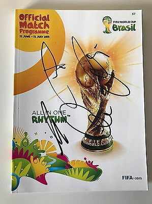 World Cup Final 2014 Signed Programme Germany