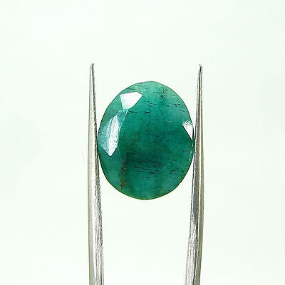 5.85 Ct Certified Natural Green Emerald / Panna Oval Loose Gemstone - 109117