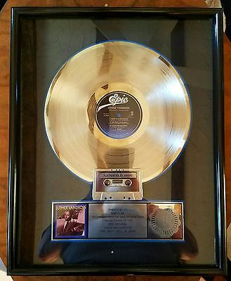 Luther Vandross-Epic Records-1985-One Of A Kind-Framed-Real Deal-Platinum-Rare