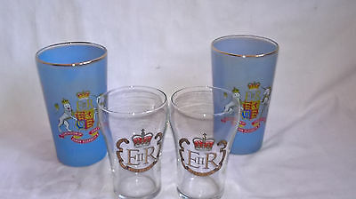 A collection of Coronation, and Silver Jubillee Commemorative Glasses