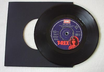 "T. REX - NEW YORK CITY b/w CHROME SITAR - A1/B1 - 7"" VINYL"