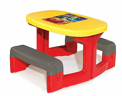 Childrens Outdoor Garden Picnic Table Storage Disney Cars Simba Smoby 310292