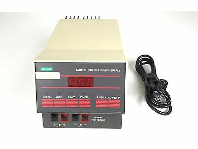 Bio-RAD Model 200 / 2.0 Electrophoresis Power Supply 100/120V 50/60Hz