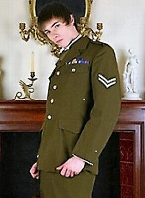 Vintage Military Jacket and trouser suit. Army.