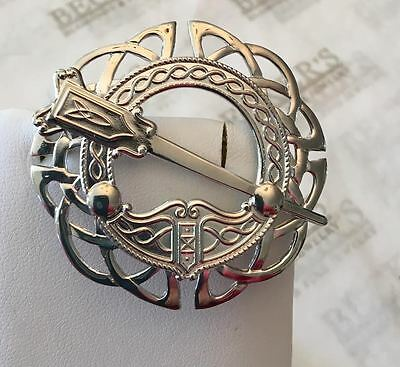 Sterling silver Celtic Coat of Arms & Sword Pin Pendant, Made in Ireland