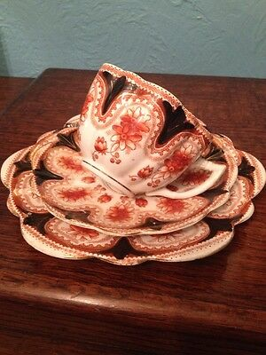 Vintage Melba China Trio Daisy Pattern - Tea Cup - Saucer & Plate -