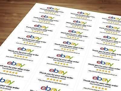 Personalised eBay Labels / Stickers - Thank You For Your Order