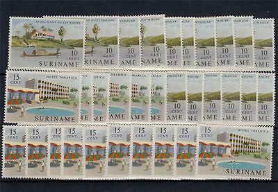 Suriname 1962 MNH Hotels Opening 16x Set 32 Stamps #A1967