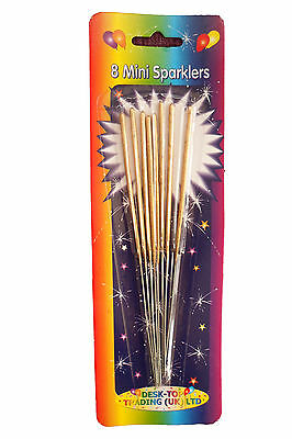Gold Mini Cake Sparklers Pack of 8