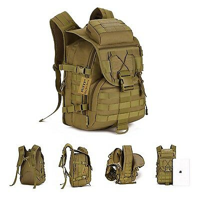 40L MOLLE Military Bag Rucksack Backpack Hiking Camping Travel Trekking Outdoor