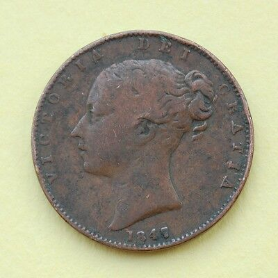 1847 Victoria Young Head Copper Farthing (F)