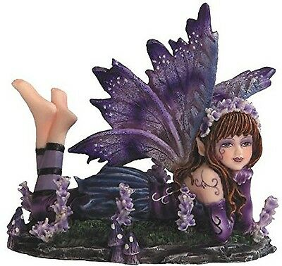 George S. Chen Imports SS-G-91589 Young Purple And Blue Fairy Lying On Stomac...