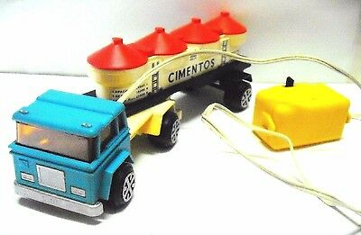 Vintage hard plastic truck made in Portugal in the 1960'S - by PLAZEL