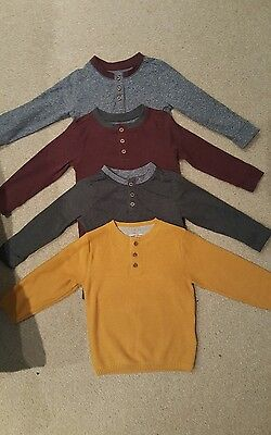 Boys 12-18 month long sleeved tops