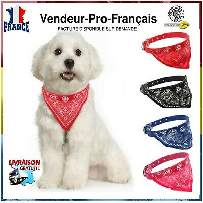 Collier Bandana Chien Chat Echarpe triangle Foulard animaux