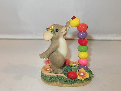 Fitz & FLoyd Charming Tails Easter YOU'RE THE TOP BEAN MINT! 88/124