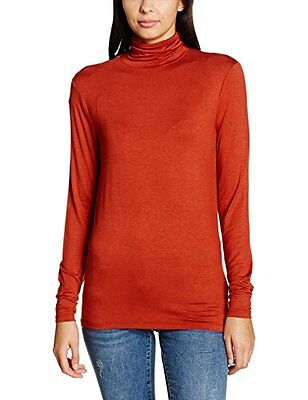 Red (Rosewood) (TG. Small) Soaked in Luxury Elisse Turtleneck Ls, Felpa Donna, R