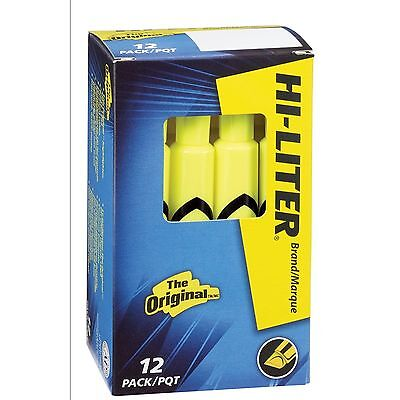 HI-LITER Desk Style, Fluorescent Yellow, Box of 12 24000