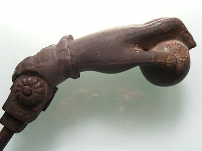 Door Knocker A French 19th century Hand and Ball Cast Iron   - k043