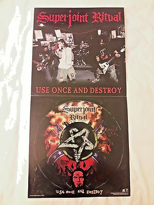 Superjoint Ritual Use Once And Destroy RARE PROMO Flat* Pantera Down Eyehategod