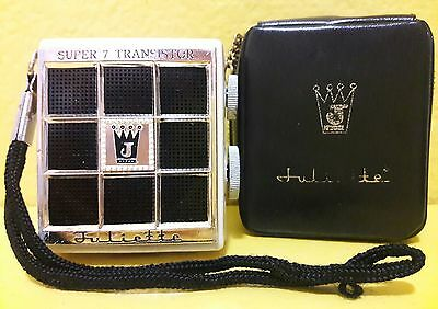 Vintage Rare Juliette Super 7 Transistor Radio With Carrying Tr-777 * Untested *