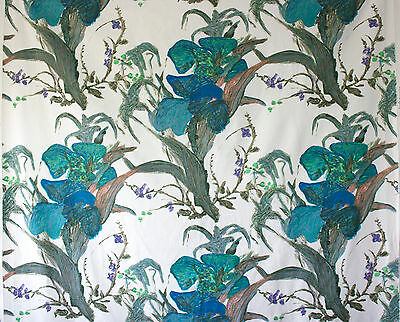 vintage 1950s Jonelle Jacaranda abstract floral print cotton interiors fabric