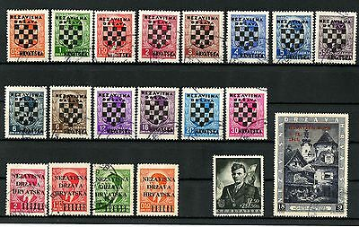 Croatia stamps NDH - WWII 1941 ☀  Used lot