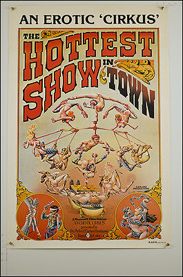 The Hottest Show in Town (1974) AU1SH Rare Original Movie Poster