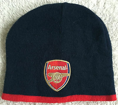 Arsenal Football Official Wooly type Beanie Hat - Youth Teenager