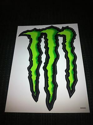 """MONSTER ENERGY Sticker / Decal 8.5"""" by 6"""" monster """"M"""""""