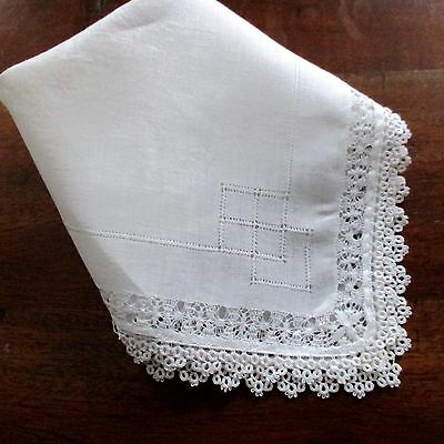 Antique Hand Embroidered Wedding Hanky